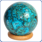 Balls from Chrysocolla