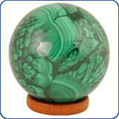 Balls from Malachite