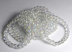 Bracelet Ball 8 mm Angel Aura (vaporised rock crystal)