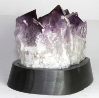 Amethyst on wooden base No. 56