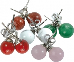 Ear Rings 8 mm group 1 silver plated