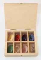 Chakra Set Donut 30 mm in wooden box