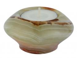 Tealight UFO 7.5 cm, Onyx Marble