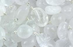 Pendants Rock Crystal silvercoloured loop
