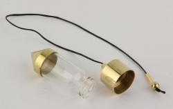 Brass Pendulum filldes with XXS-Stones group 2