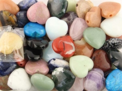 Special Mix Pendants Hearts 30 mm, B-quality