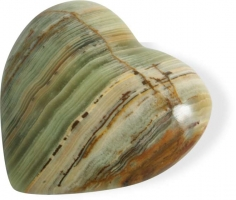 Herz 5.1 cm, Onyx-Marmor