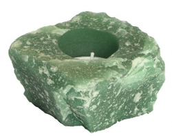 Aventurine green candle light