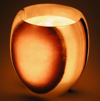 Candle light ball 8.5 cm, Onyx-Marble