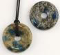 Donut 40 mm K2 (Azurite in granite) B-quality