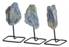 Kyanite rough on metal stand