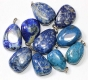Pendant Lapis-Lazuli with 925 silver loop B-quality