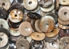 Donuts 30 mm Petrified wood B-quality