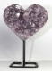 Amethyst Heart with metal base No. AMH74