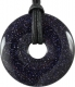 Donut 30 mm Blue Goldstone