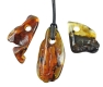 Amber Pendant with front drill