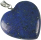 Heart with loop 20mm, Lapis