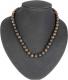 Necklace ball Stromatolithe 8 mm, 45 cm