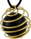 Tumbledstone spiral large, goldplated