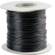 Wax cord black 1 mm 90 m