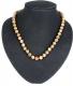 Necklace ball Leopardit (Oncolite) 8 mm, 45 cm