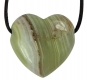 Pendant Heart 30 mm Aragonite green (Onyx Marble)