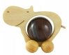 Rolling wooden Hippo for 20 mm balls (spheres)