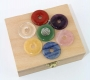 Chakra Set Donut 30 mm in wooden box