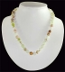 Necklace ball Aragonite green 8 mm, 45 cm