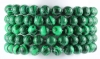 Bracelet Ball 8 mm Malachite-Imitation