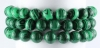 Bracelet Ball 10 mm Malachite-Imitation