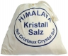 Granulate salt in cotton bag, 1 kg