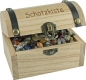 Wooden Treasure Box 9 cm with imprint, filled