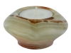 Candle holder UFO 7.5 cm, Onyx Marble