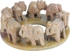 Elephants in a circle, approx. 10 cm
