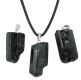 Pendant Black Tourmaline (Schorl) rough with 925 silver loop