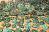 Malachite partly polished 80 - 500 g