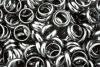 Hämatit-Ringe (Hämatin) rund 6 mm