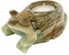 Candle light Frog 10 cm, Onyx Marble