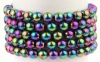 Bracelet Ball 8 mm Rainbow Hematite
