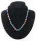 Necklace ball Rainbow Hematite 8 mm, 45 cm