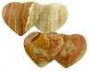 Doppelherz 4 x 7.5 cm, Onyx-Marmor, 10 Stück