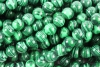 Loose Beads strands of Malachite-Imitation ball 6 mm, 10 pieces