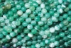 Loose strand colored Agate ball 6 mm green, 10 pieces