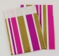 Paperbag Stripes pink/gold 70 x 90 mm
