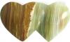 Double heart 4 x 7.5 cm Onyx Marble