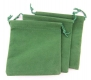Samtbeutel grün 95x115 mm, 100 Stück