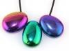 Pendant Drop Rainbow Hematite