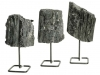 Schorl Rock (Black Tourmaline) on metal stand