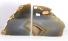 Agate bookends, Pair No. BE1